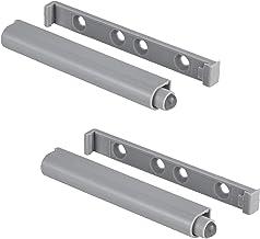 Gedotec Druksnapper van kunststof, automatische drukknop, push-to-open deuropener, grijs, Silent Push   sterke deursnapper...