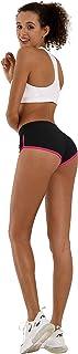 BUBBLELIME Yoga Shorts Inner Pocket Running Shorts Workout Fitness Active Wicking UPF30+ Tummy Control