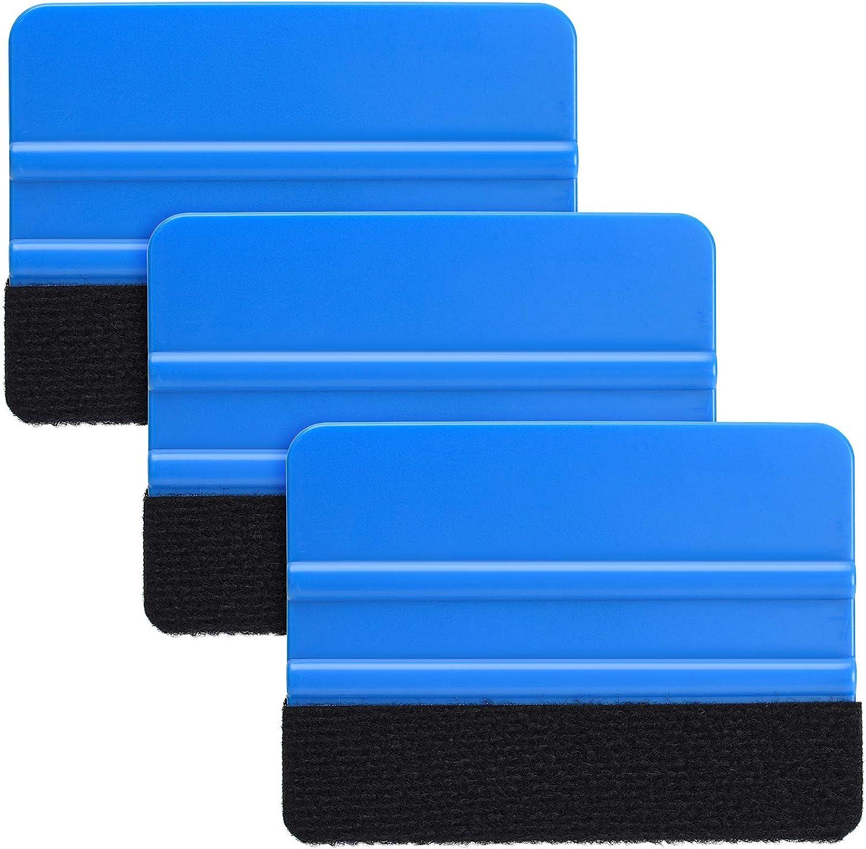 Durable Phoenix Mall Black Felt Edge Vinyl Tool Max 72% OFF Squeegee Fi Car 4-Inch