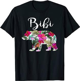 Floral Bibi Bear T Shirt Bibi Mother's Day Gift