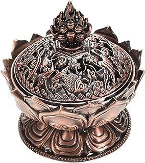 comprar comparacion Lotus tibetana Diseñado aleación de bronce del arte del quemador de incienso de bronce mini decoración del hogar