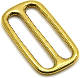 Sponsored Ad - Okones 6pcs,32mm Inner Width,Solid Brass Rectangle Buckle Loop Ring Belt and Strap Keeper (insides1-2/7`` 3...