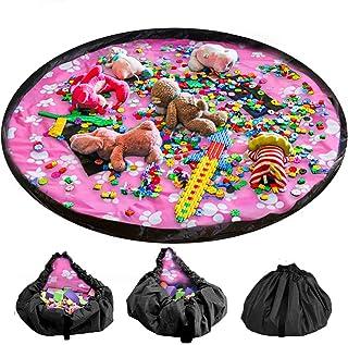 LandJoy Leksak förvaringsväska 150 cm (60 tum) barn lekmatta stor bärbar snygg arrangör dragsko väska för hem och utomhus...
