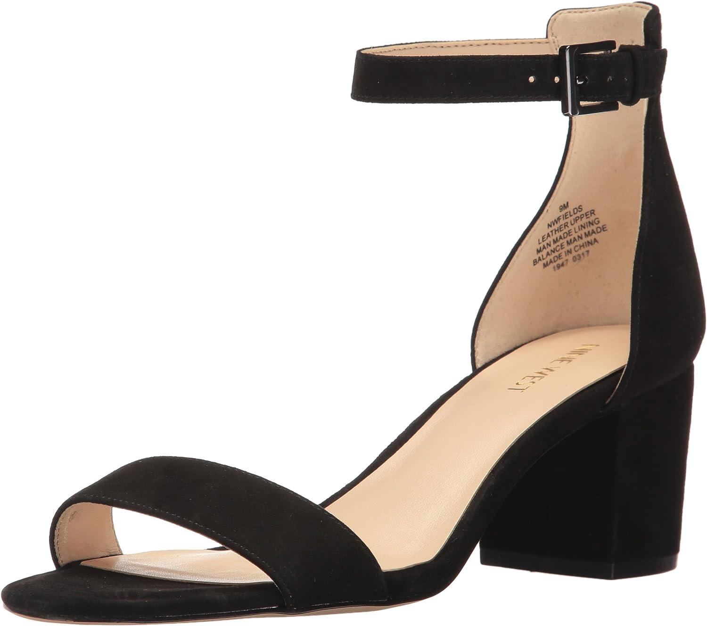 Nine West Womens Fields Suede Dress Sandal
