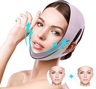 Sponsored Ad - Quecc Face Slimming Strap, Pain-Free Face Shaper Band, V-Line Face Lifting Bandage, Double Chin Reducer Fac...