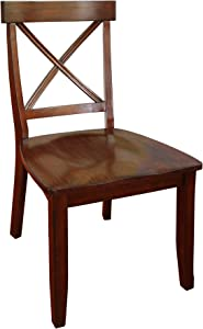 Home Styles Classic Dining Set of Cherry Finished x Back Design Chairs