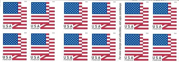 USPS U.S. Flag Forever Stamps - Booklet of 20 - 2018 Version
