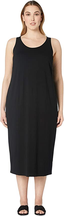 Plus Size Viscose Jersey Scoop Neck Dress