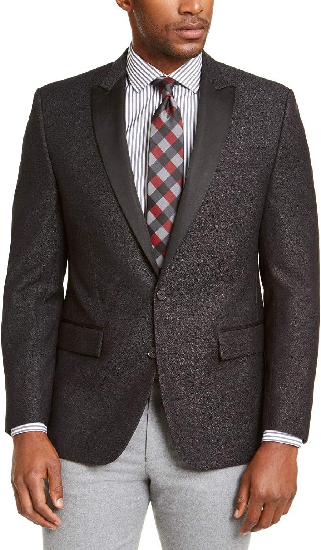 RYAN SEACREST Mens Gray Single Breasted Blazer Regular Size: 44R