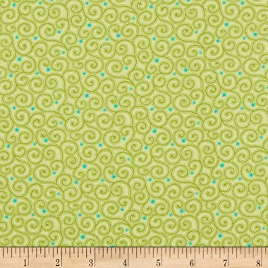 Benartex Home Grown Swirl Green, Fabric by the Yard