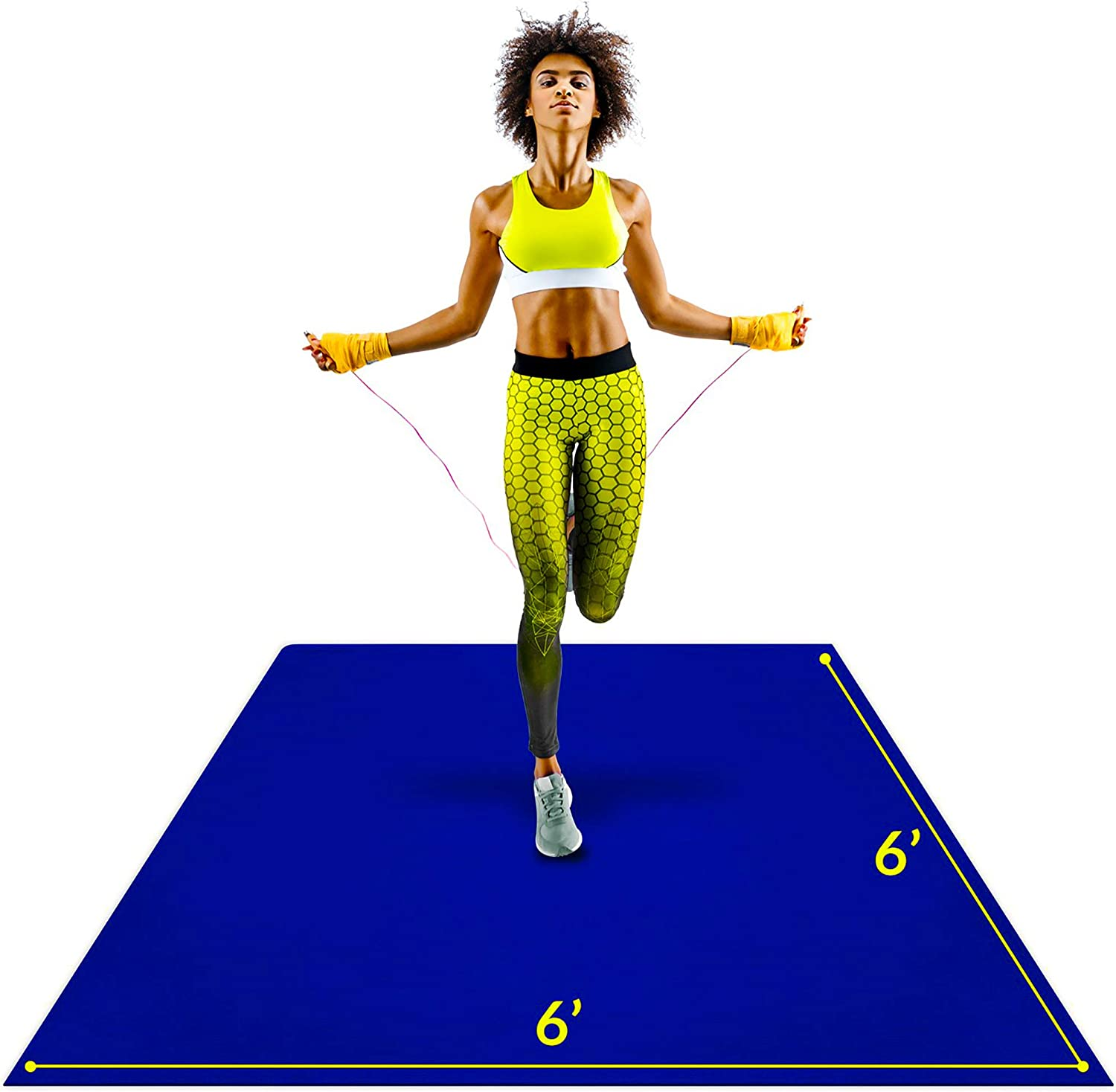 Large Exercise Mat 6'x6'x7mm Workout Durable for 5% OFF trust Ho Home