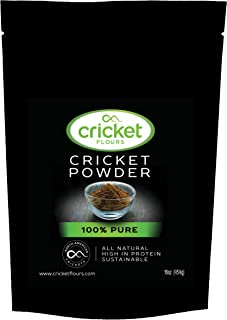Cricket Flour: 100 Pure Cricket Powder 454gram (Made from North American Roasted Crickets) Great High Protein Option for Shakes, Baking, and Recipes. Made in Portland, Oregon and 25+ Cookbook Included
