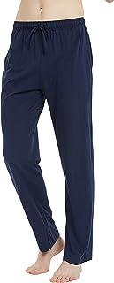 U2SKIIN Mens Cotton Pajama Pants, Lightweight Lounge Pant with Pockets, Soft Sleep Pj Bottoms for Men