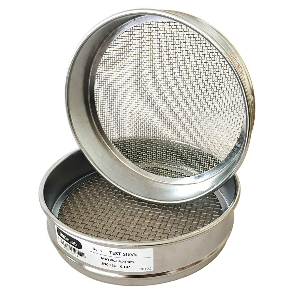 KimLab Economy Free Our shop most popular Shipping Cheap Bargain Gift Test Sieve #4 4.75mm Mesh Stainless 304 Size Stee