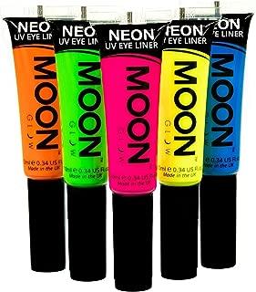 Moon Glow - Blacklight Neon Eye Liner 0.34ozSet of 5 colors– Glows brightly under Blacklights / UV Lighting!