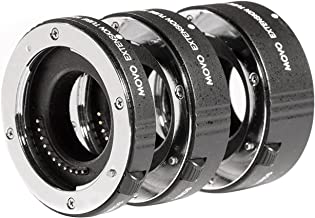 Movo MT-FJ47 3-Piece AF Chrome Macro Extension Tube Set for Fujifilm X-Series Mirrorless Cameras Including X-E3, X-E2S, X-A10, X-A3, X-Pro2, X-T20, X-T2, X-T10, X-T1