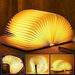 Molbory Éclairage d'ambiance LED, Rechargeable par USB, Blanc chaud 19.5x14x2.5cm