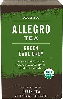 Allegro Tea, Organic Green Earl Grey Tea Bags, 20 ct