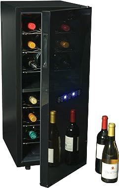 Koolatron WC24MG Urban Series 24 Bottle Dual Zone Cooler, Thermoelectric Fridge, Freestanding Wine Cellar for Home Bar, Kitch