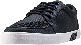 Men's Black Canvas White Sole VLK Creeper Sneaker