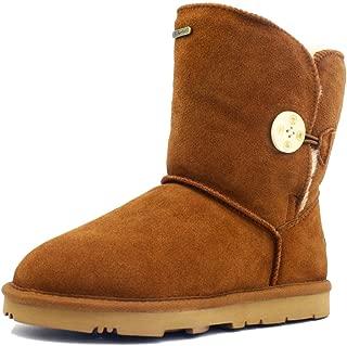 K.Signature Big Kids (7-12 Years) Summer Short One Button Sheepskin Winter Boots