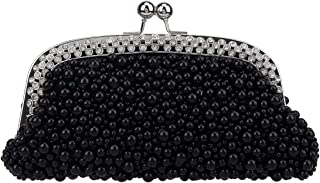 Bonjanvye Pearl Purses for Women Evening Clutches for Wedding and Party