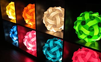 PUZZLE LIGHTS: White Modern Lamp Shade (Medium)(M) by INFINITY LIGHTS