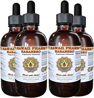 Habanero Liquid Extract, Organic Habanero (Capsicum chinense) Tincture 4x4 oz