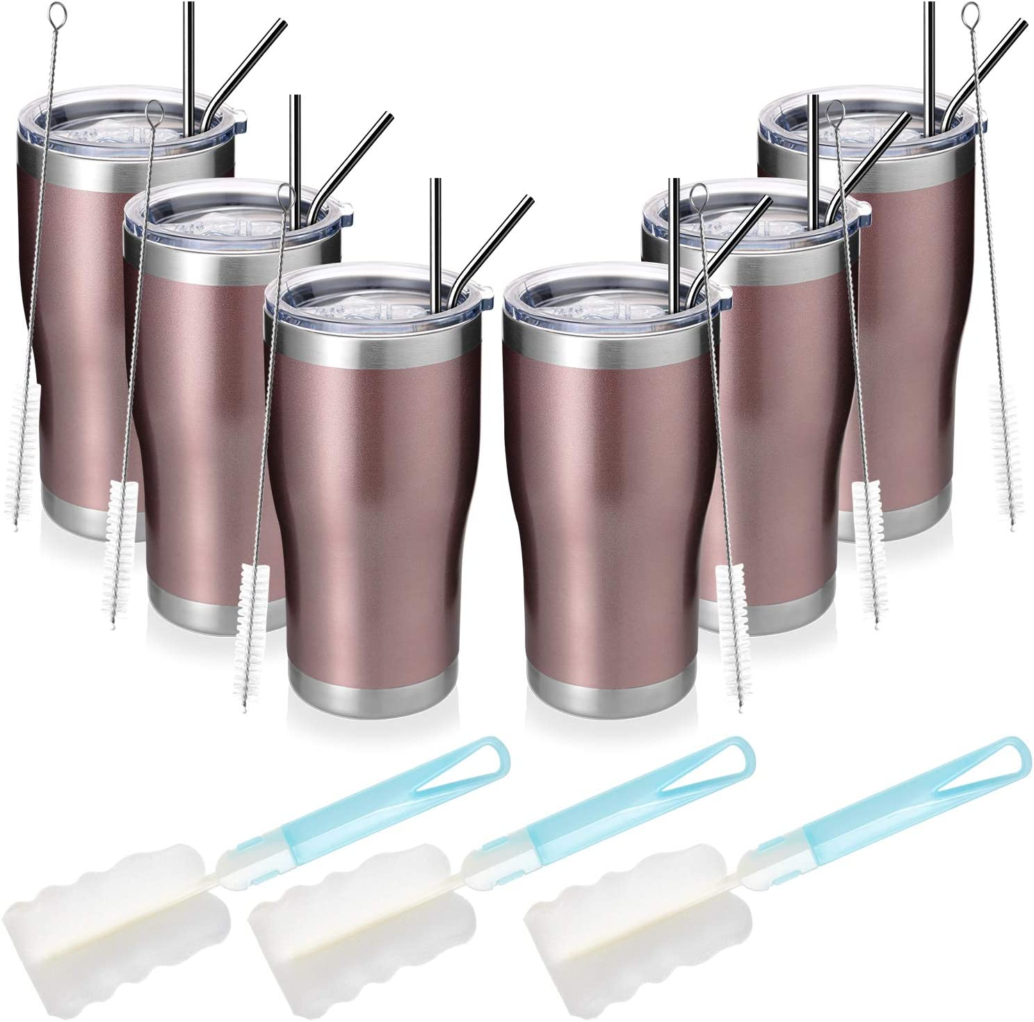 MANYHY 20oz Stainless Steel Insulated Tumbler San Jose Mall Max 86% OFF Pack Trave Bulk 6