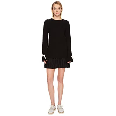 RED VALENTINO Knit Dress with Slit Sleeve Point D