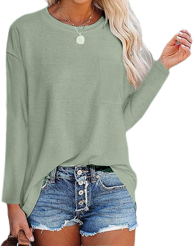 felwors Sweatshirt Tops for Women, Womens Casual Long Sleeve Crewneck Sweatshirts Cute Graphic Pullover Tunic Tops Shirt