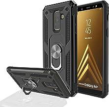 جراب Samsung Galaxy A6 Plus 2018، جراب متين مطبوع عليه WingLike Cool Serise مع حامل حلقي [مغناطيسي] غطاء واقٍ هجين 2 في 1