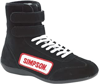 Simpson 28110BK The Hightop Black Size 11 SFI Approved Driving Shoes