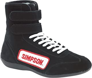 Simpson Racing 28135BK The Hightop Black Size 13-1/2 SFI Approved Driving Shoes