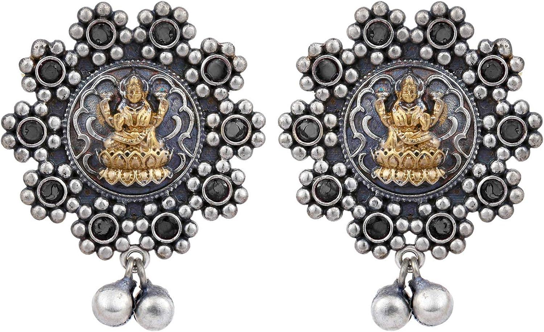 Aheli Philadelphia Mall Traditional Oxidised Silver Alloy Gir Earrings Women for NEW
