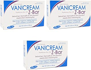 Vanicream Z-Bar Medicated Cleansing Bar - 3.53 oz, Pack of 3