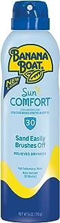 Banana Boat Sunscreen SunComfort Ultra Mist Broad Spectrum Sun Care SunScreen Spray SPF 30, 6 Ounce,Packaging May Vary.