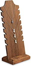 Mooca Wooden Freestanding Necklace Easel Display Stand Holder Multiple Necklace Bust, Brown