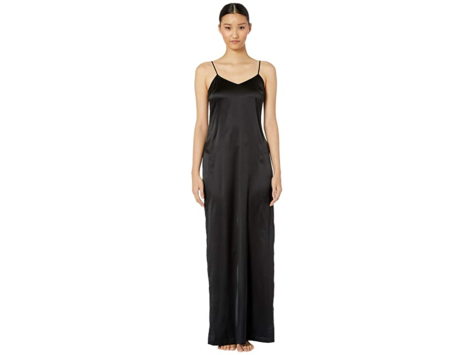 La Perla Silk Reward Long Slip Dress (Black) Women