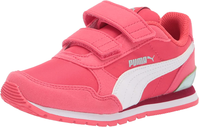 PUMA Unisex-Baby 爆安 Carson 2 Metallic Mesh Sneaker 引出物 Hook Bl and Loop
