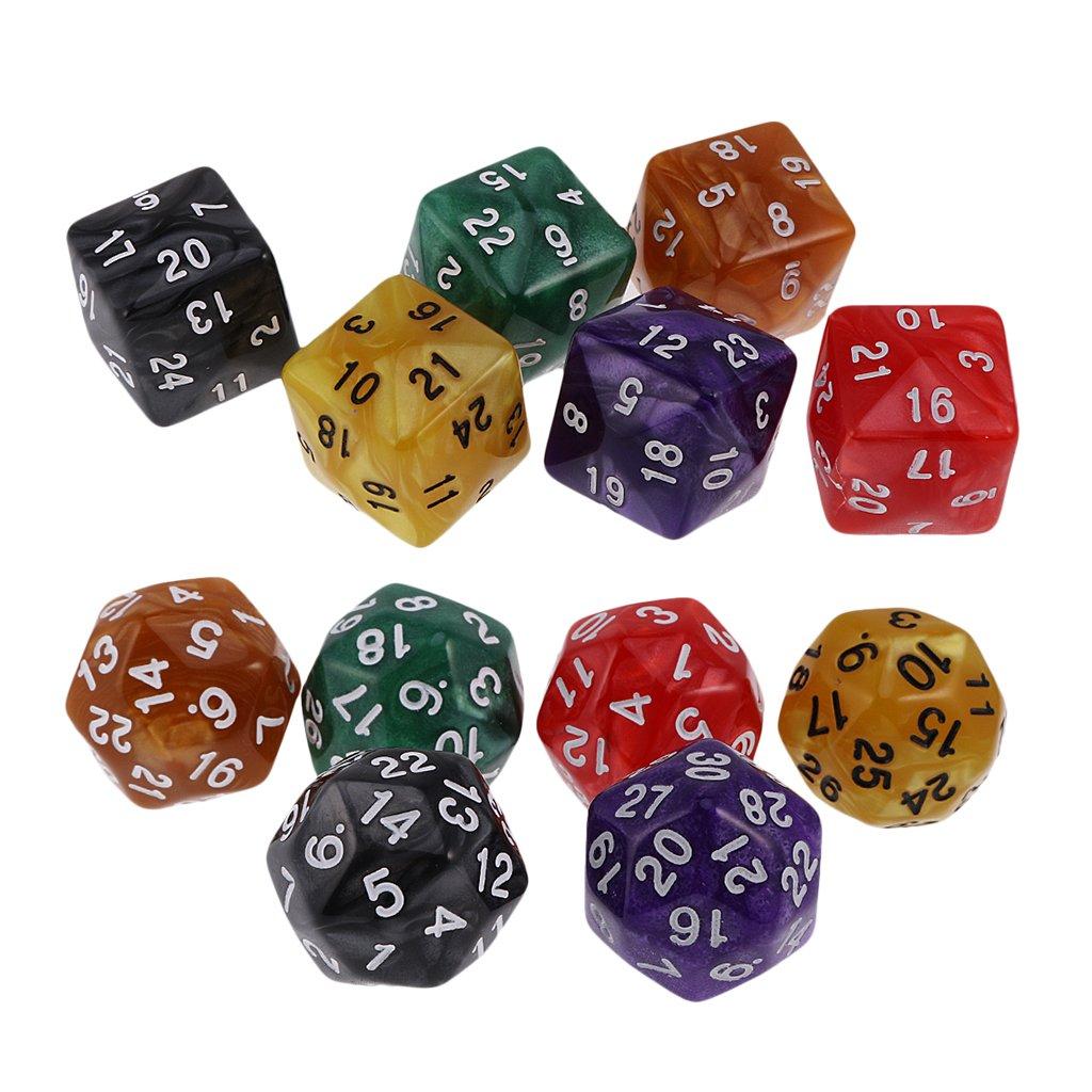 Baoblaze D24 D30 Dados de 24 Caras 30 Caras para Dungeons and Dragons Table Game Juego de Mesa: Amazon.es: Juguetes y juegos