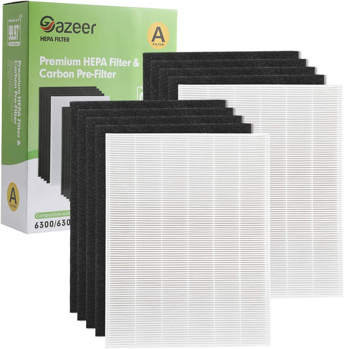 Gifts Gazeer 2 True HEPA Filter Replacement 8 A supreme and Carbon Pre