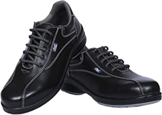 Allen Cooper AC-1299 Women Safety Shoe, ISI Marked for IS 15298 Part-2, Double Density DIP-PU Sole, Size 7,Black