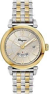 Ferragamo Feroni GMT Quartz Gold Dial Men's Watch F44060017