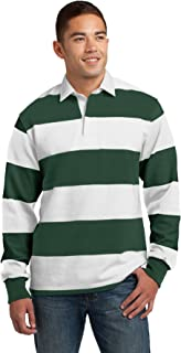 green rugby polo