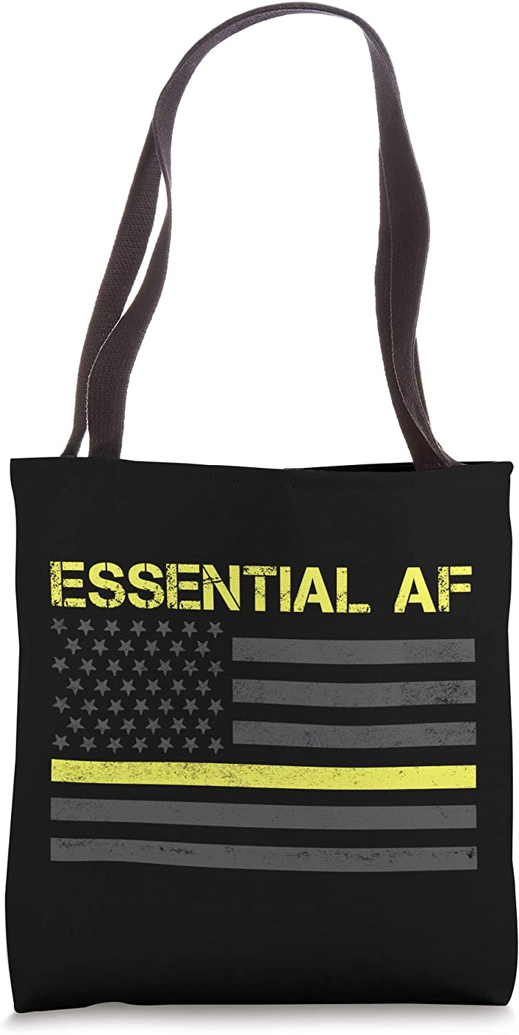 Essential 911 Max 58% OFF Police Dispatcher Thin Tote Max 76% OFF Yellow Bag Gift Line