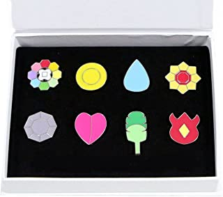 OLIA DESIGN Gym Badges League Pin Gen Set, 8 Pieces