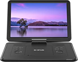 "17.5"" Portable DVD Player with 15.6"" Large HD Screen, 6 Hours Rechargeable Battery, Support USB/SD Card/Sync TV and Multip..."
