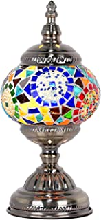 Mosaic Table Lamp Marrakech Handmade Turkish Mosaic Glass Desk Table Lamp Moroccan Glass Lantern Table Lamp with Bronze Base