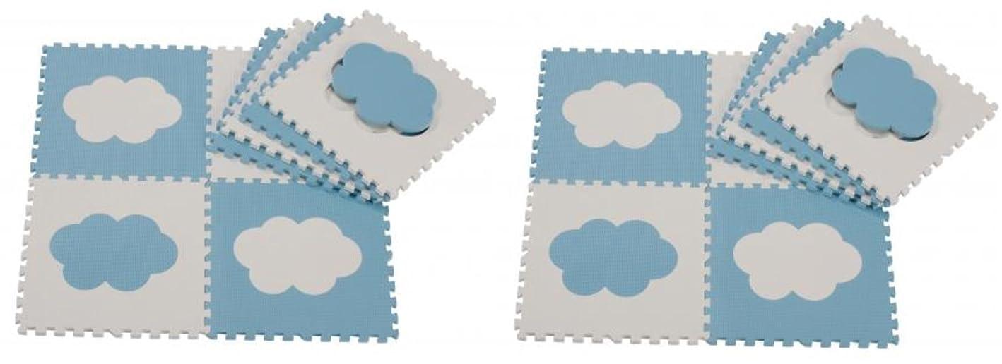 差別共和国フィラデルフィア【Amazon.co.jp限定】 ジョイントマット 雲 8枚×2個セット (16枚) プレイマット
